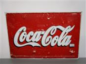 LARGE COCA-COLA TIN SIGN, MADE FOR DOMESTIC MEXICAN MARKET